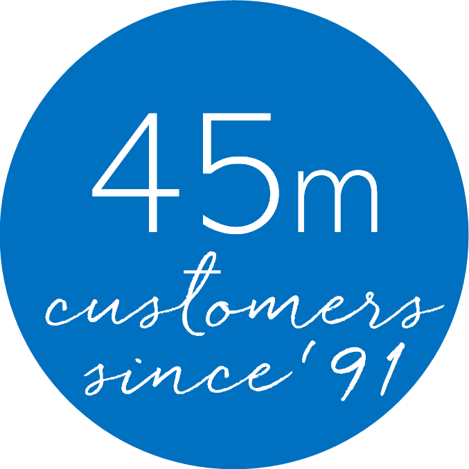 45m customers since 91